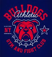 Bulldog Grunge embleem ontwerp