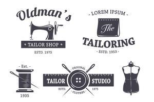 kleermakers emblemen vector