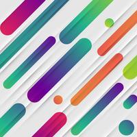 Kleurrijke abstracte achtergrond met ballen en lijnen voor reclame, vectorillustratie