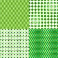 Saint Patricks dag polka dot patronen vector