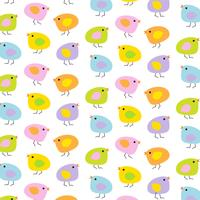 pastel Easter baby kuikens achtergrondpatroon vector