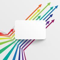 Kleurrijk en schoon malplaatje met pijlen, vectorillustratie vector