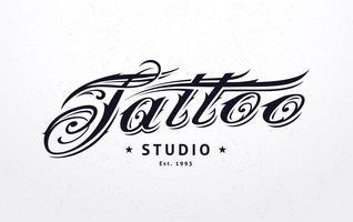Tattoo belettering vector