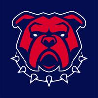 Bulldog in Spiked kraag Vector mascotte