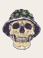 Rasta schedel in hoed