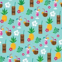 tropische tiki drankjes achtergrondpatroon