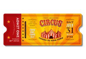 Vintage circuskaartje vector
