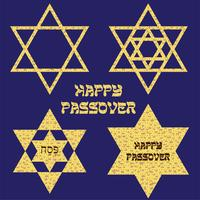 Pascha Matzoh joodse sterren vector
