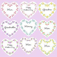 moederdag hartvormige frames vector