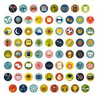 kleurrijke cirkel vector pictogrammen en symbolen