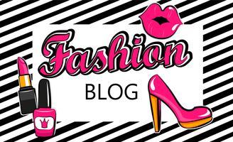 Sjabloon voor modeblog. vector