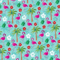 tropische flamingo achtergrondpatroon vector