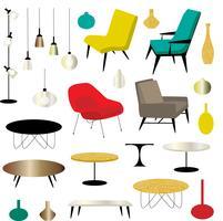 moderne meubels clipart vector