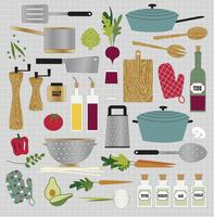 keuken koken clipart vector