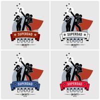 Super papa of superdad logo ontwerp.