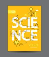 Infographic van wetenschap concept.