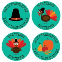 Thanksgiving grafische pictogrammen vector