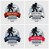 Rock and roll logo-ontwerp.