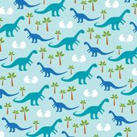 baby dinosaurus achtergrondpatroon vector