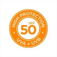 UV, zonwering, hoge SPF 50 vector
