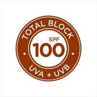 UV-, zonwering, Total Block SPF 100 vector