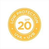 UV, zonwering, lage SPF 20 vector
