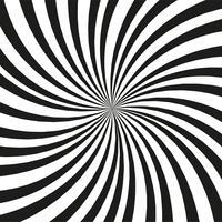 Heldere zwart-witte stralenachtergrond. Twister-effect. vector