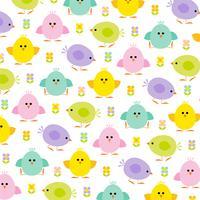 pastel kuikens Pasen-patroon