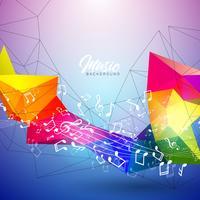 Muziek illustratie vector