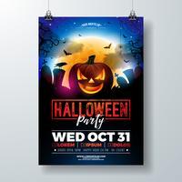 Halloween-partij flyer illustratie vector