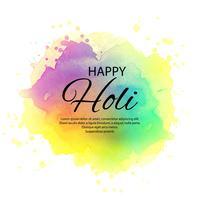 Illustratie van kleurrijke Gelukkige Holi-vieringsachtergrond