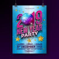Nieuwjaar feest viering Poster