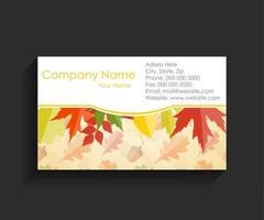 bedrijf visitekaartje vectorillustratie vector