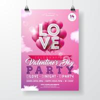 Valentijnsdag partij flyer ontwerpen
