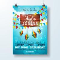 Festa Junina Party Flyer Illustratie vector