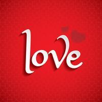 Valentijnsdag LIEFDE lettertype vector