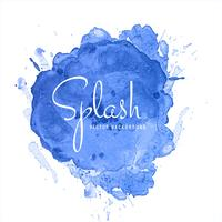 Prachtige blauwe aquarel Splash Design