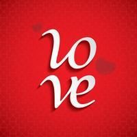 "Valentijnsdag ""Love"" vector"