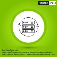 Perfecte zwarte pictogram, vector of pictogramillustratie op groene achtergrond.