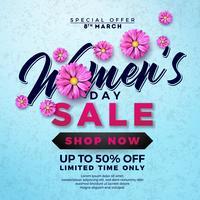 Ontwerp van de dag van de vrouw te koop vector