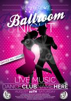 Ballroom Night Flyer ontwerp vector