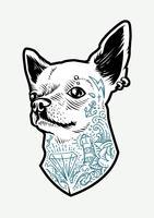 Getatoeëerde Chihuahua vector