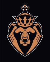 Bear in Crown mascotte vector pictogram