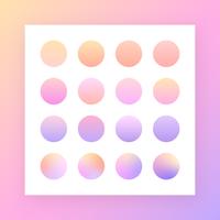 Soft Pastel-verloopstalen vector