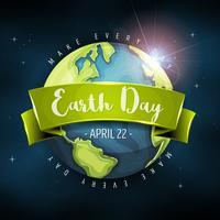 Aarde planeet achtergrond vector