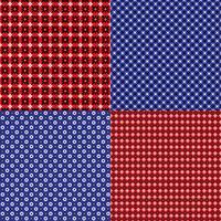 rode en blauwe bandana geometrische patronen