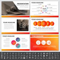 Moderne elementen van infographics voor presentatiesjablonen voor banner