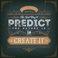 De beste manier om het toekomstige citaat te voorspellen vector