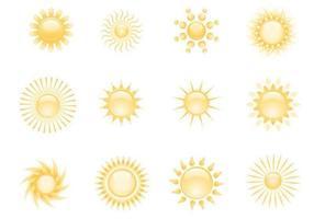 vurige zonnen vector pack