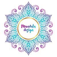 Mandala-banner, Indische stijl. vector